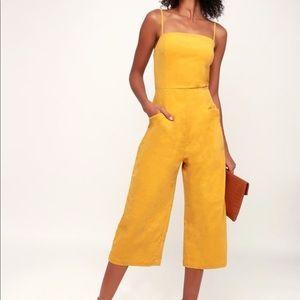 NWT Lulu's corduroy cropped jumpsuit